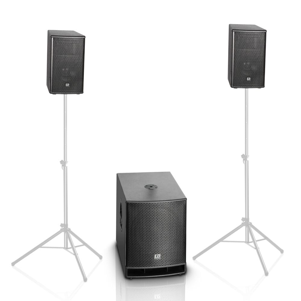 Professional PA system for outdoor cinema